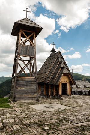 Ethno-Dorf in der Nähe von Mokra Gora in der Umgebung von Zlatibor, Serbien
