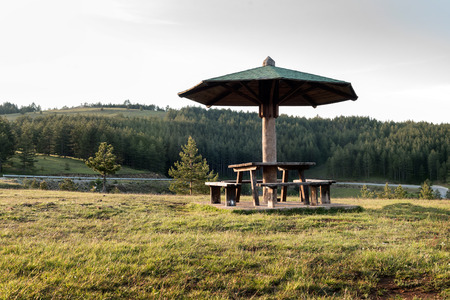 Resting Place for Drivers And Travelers on a Mountain Road, Mount Zlatibor, Serbia Banco de Imagens