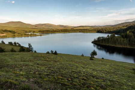 Ribnicko Lake or Ribnicko jezero - 2,000 meters long artificial lake in Mount Zlatibor, Serbia