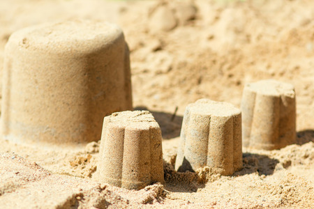 Cakes in the sandbox, close-up Stock Photo