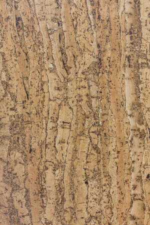 Closed up of brown cork board abstractpattern texture background