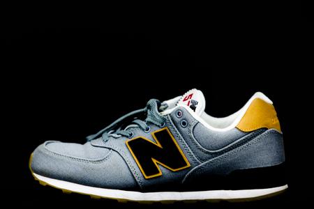 size 40 6d63f 557a3 BOSTON, MA, USA, January 2019 - New Balance NB 574 athletic shoes.