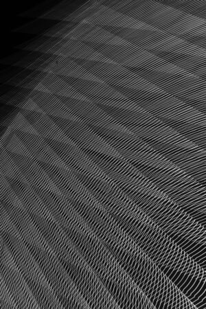 abstract long exposure blurred light lines black and white background. Geometric shapes