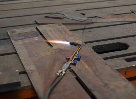 welding closeup shot sparks