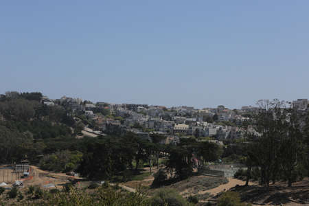 SAN FRANCISCO, CA, USA, 2.09.2020 - Parks, sports fields and private homes Presidio of San Francisco.
