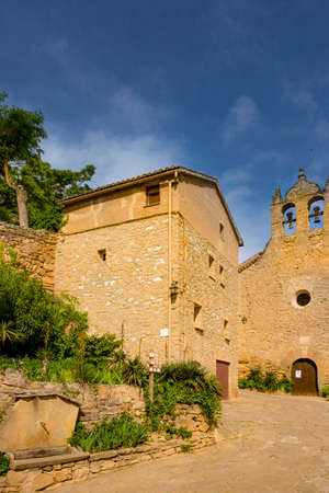Foradada, Spain, May 1, 2020 - Castle of Montsonis in Lleida province, Catalonia. old medieval architecture, historical heritage, inhabited castle, tourist attraction