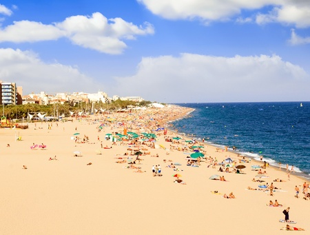 Beaches, coast in Spain near Barcelona. photo