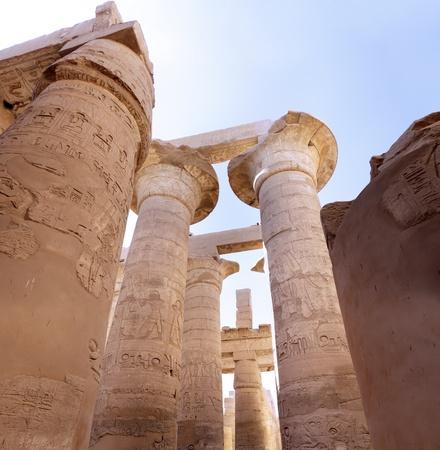 The Karnak Temple Complex, Luxor, Egypt. Pillars photo