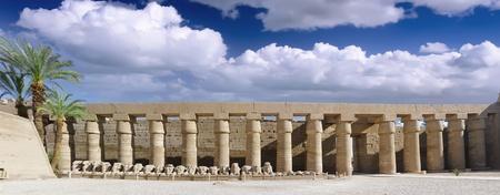 great hall: Karnak Temple Complex, Luxor, Egypt. Panorama