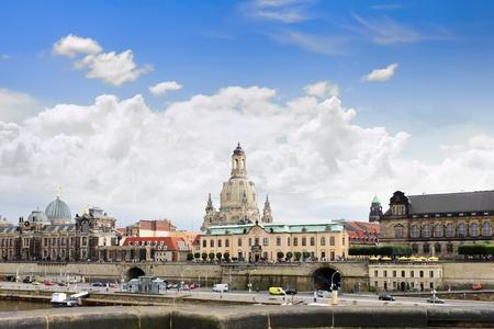 Dresden panorama from Elbe bridge. Germany photo