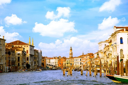 Beautiful water street - Grand Canal in Venice, Italy Stock Photo - 10202563