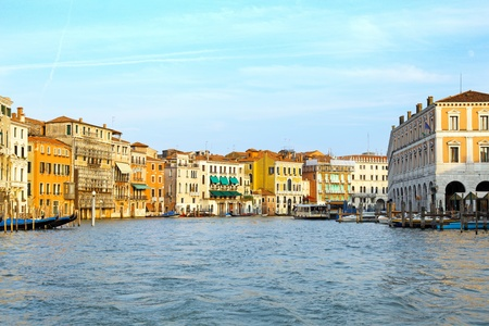 Beautiful water street - Grand Canal in Venice, Italy photo