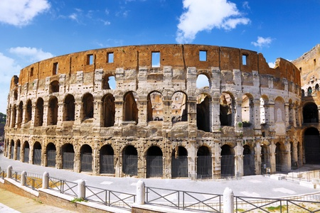 The Colosseum, the world famous landmark in Rome, Italy. photo