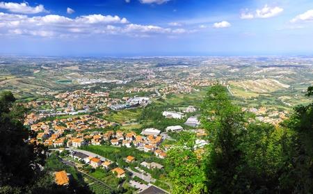 San-Marino Bird-eye view. Italy. Panorama. photo