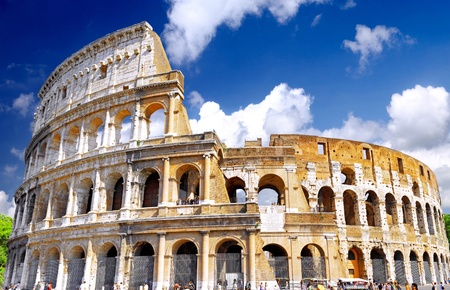 The Colosseum, the world famous landmark in Rome, Italy.
