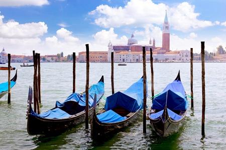 Gondolas near Doge Palace, Venice photo