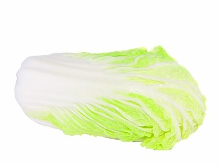 Chinese cabbage on white background. Isolated Stock Photo