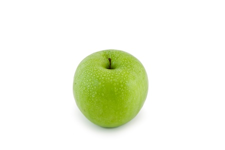 Sinngle apple . Isolated over white photo