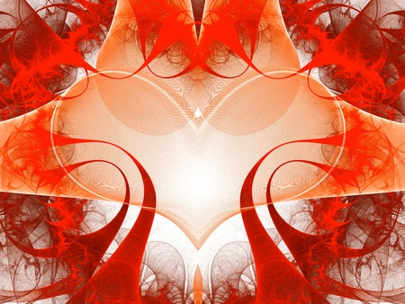 Abstract art red heart - backdrop (wallpaper) . photo
