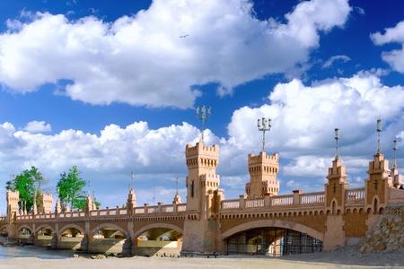alexandria egypt: Bridge in Royal Park Montazah, Alexandria. Egypt. Stock Photo