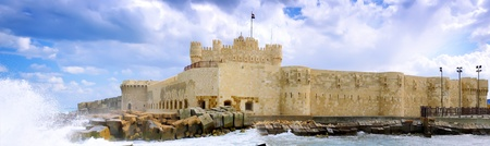 alexandria egypt: Kite-Bey Fortress built on the ruins of the Alexandria lighthouse. Alexandria, Egypt