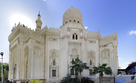 alexandria egypt: Mosque of Abu El Abbas Masjid, Alexandria, Egypt. Panorama