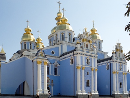 Olod temple in capital of Ukraine- Kiev city. photo