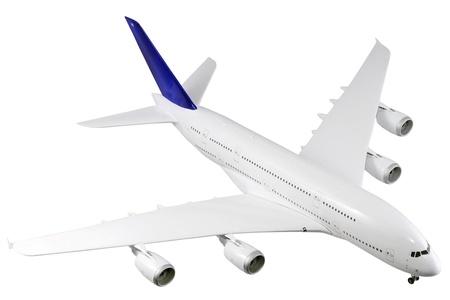 jetliner: Modern airplane isolated on white background.