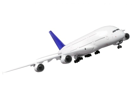 jetliner: Modern airplane isolated on white background.