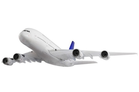 Modern airplane isolated on white background. Stock Photo - 11544204