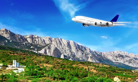 Modern airplane  in South part of Crimea. Ukraine. Stock Photo - 11544172