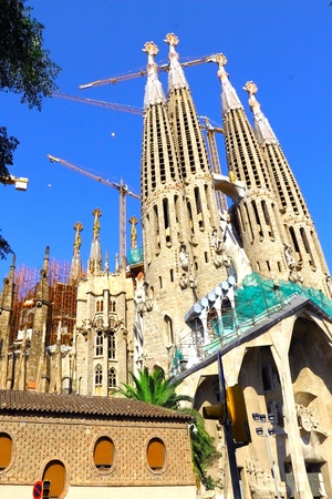 Temple Sagrada Familia- of Gaudi  in Barcelona. Spain photo