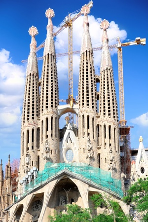 Temple Sagrada Familia- of Gaudi  in Barcelona. Spain