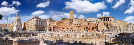 Forum romain à Rome, Italy.Panorama