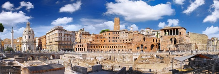 Roman forum in Rome, Italy.Panorama photo