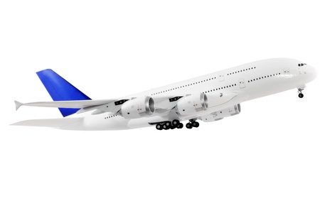 Modern airplane isolated on white background. Stock Photo - 11766055