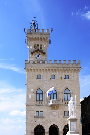 Central square of San Marino, Italy, Eirope photo