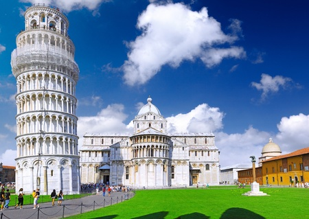 Famous Piazza Dei Miracoli Square of Miracles in Pisa, Italy photo