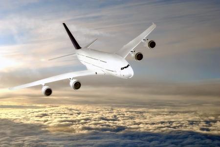 estratosfera: Modern airplane  in the sky  stratosphere.