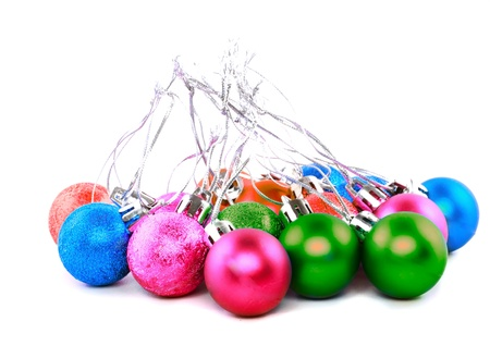 Christmas and New Year decoration-balls. Isolated on the white background.