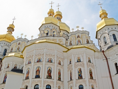Dormition Cathedral in Pechersk Lavra in Kiev. photo