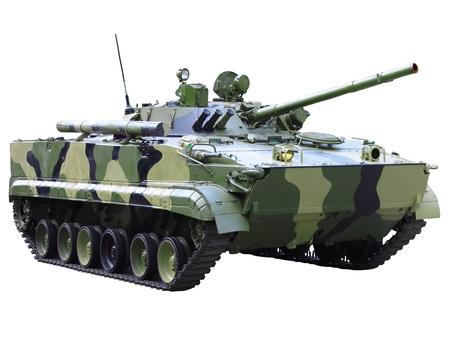 Militaru technics- tank. Isolated over whita background.