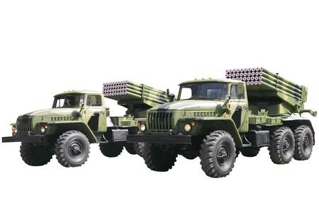 Militaru technics. Isolated over whita background. photo