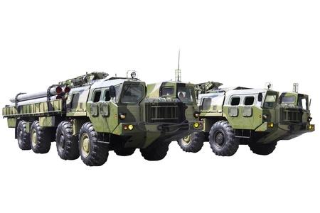 Militaru technics. Isolated over whita background. Stock Photo - 11835143