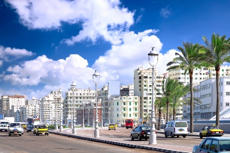 qua: Alexandria city , urban view, Egypt.