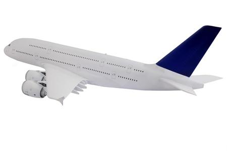 Modern airplane isolated on white background. photo