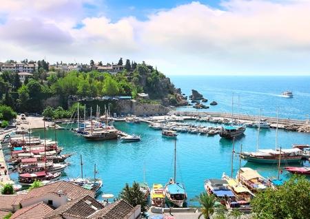 The Mediterranean gulf in Turkey Stock Photo