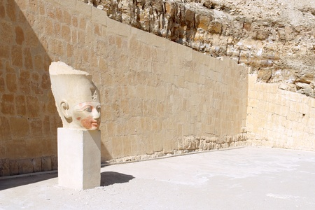 Statue of Queen Hatshepsut - Temple at Luxor .Egypt photo