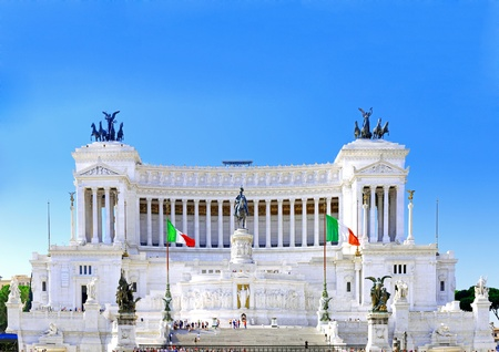 Venice Square in Rome, and the Monument of Victor Emmanuel . Italy photo
