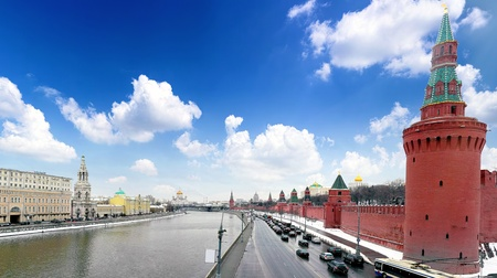 View of the Kremlin Embankment.Moscow Stock Photo - 13201840